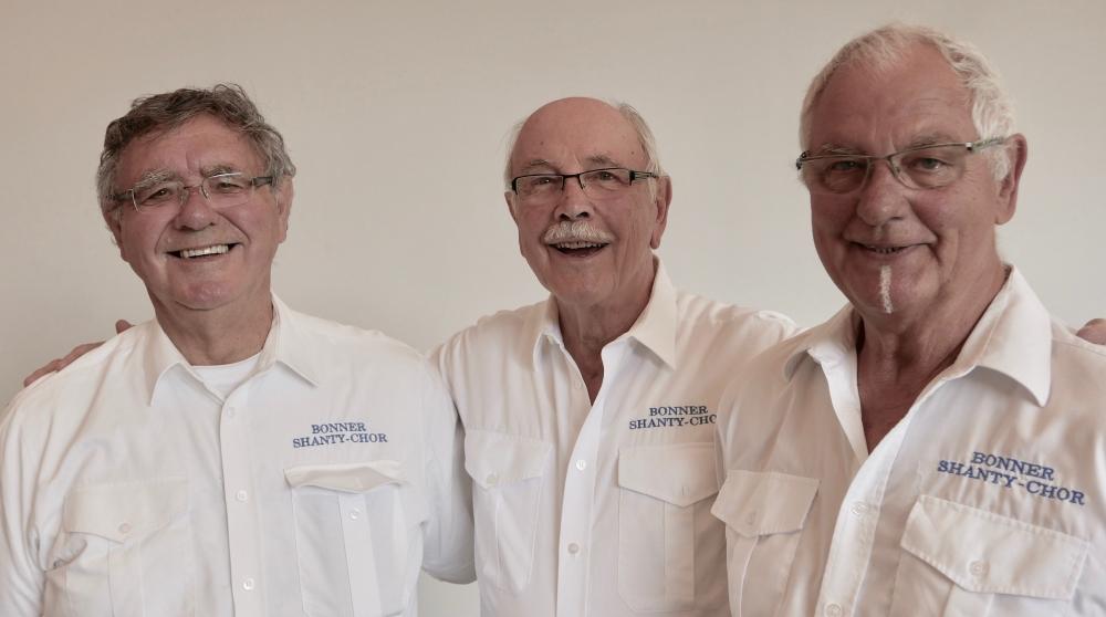 2019: Sänger Reinald Ennen, Dieter Schenk, Wilfried Goebels (Foto: Manfred Weiler)