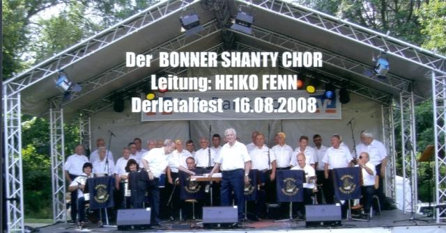 2008: BONNER SHANTY-CHOR auf der Bühne des Derletalfestes (Foto: Gerhard Meyer)