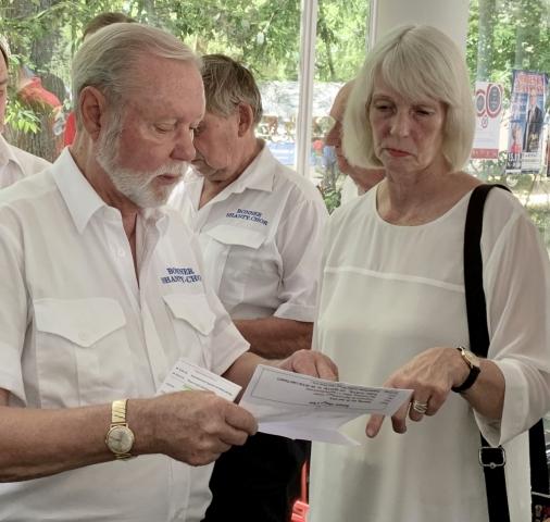 2019: Vorbesprechung zwischen Hans-Kurt Süßmilch und Zita Munderloh (Foro: Manfred Weiler)