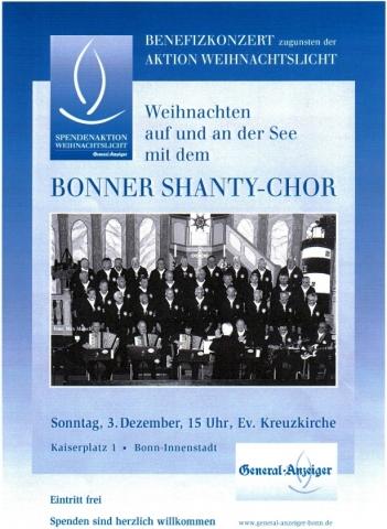 2006: Plakat für Benefizkonzert in der Kreuzkirche