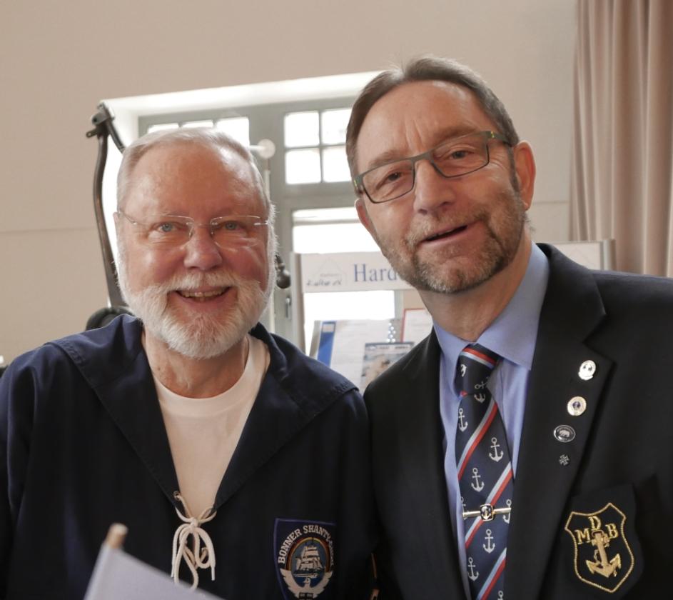2018: Chor-Manager Hans-Kurt Süßmilch und Berthold Heupel (Foto: Imke Weiler)