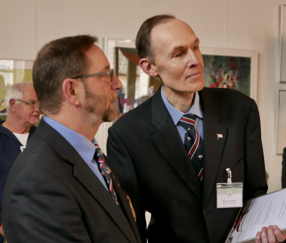 2018: Berthold Heupel und Martin Winkler (DGzRS) (Foto: Imke Weiler)
