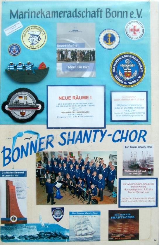 Plakat von Marinekameradschaft und Shanty-Chor (2015, Foto: Peter Reichelt)