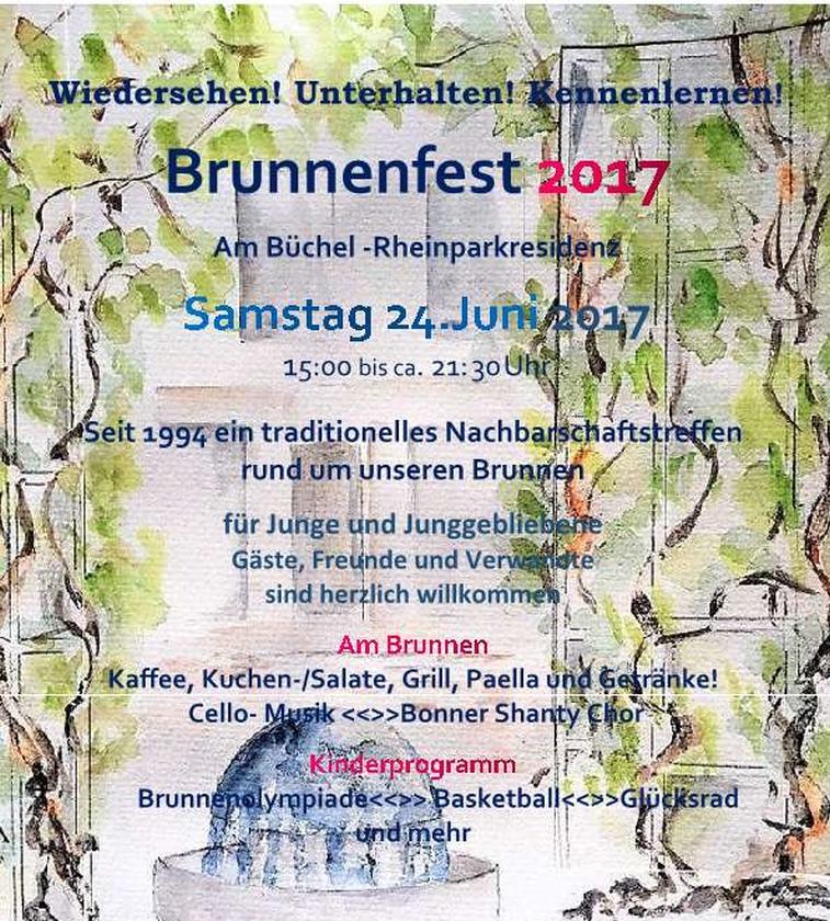 """2017: Veranstaltungsplakat für das Brunnenfest """"Am Büchel"""""""