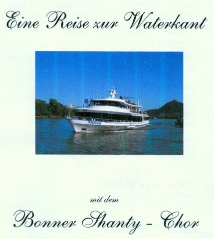 """2012: Speisekarte auf der MS Poseidon während der """"Reise zur Waterkant"""" (Titelseite)"""