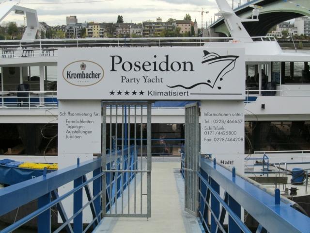 2012: Aufgang zut MS Poseidon (Foto: Peter Reichelt)