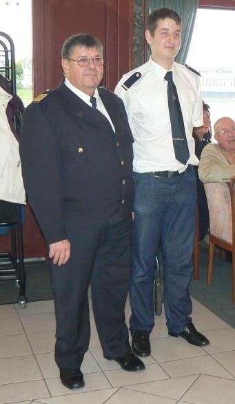 2012: Kapitän Walter Schmitz und Bootsmann Alexander Gottschlich (Foto: Imke Weiler)