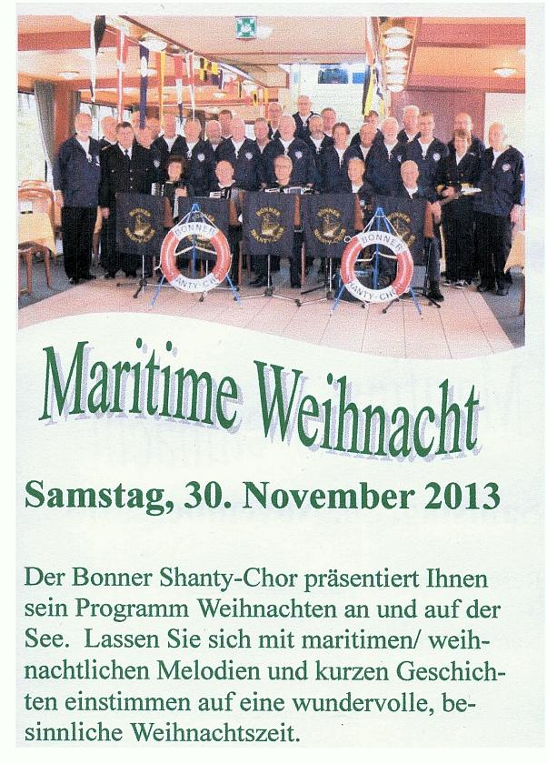 2013: Ankündigung Maritime Weihnacht