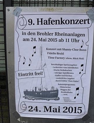 2015: Plakat für das Hafenfest (Foto: Manfred Weiler)