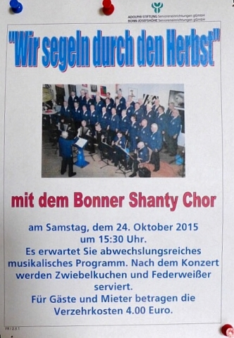 "2015: Plakat ""Wir segeln durch den Herbst"" (Foto: Manfred Weiler)"