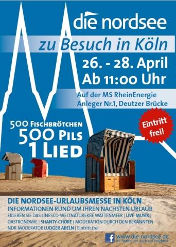 """2013: Plakat """"Die Nordsee zu Besuch in Köln"""""""