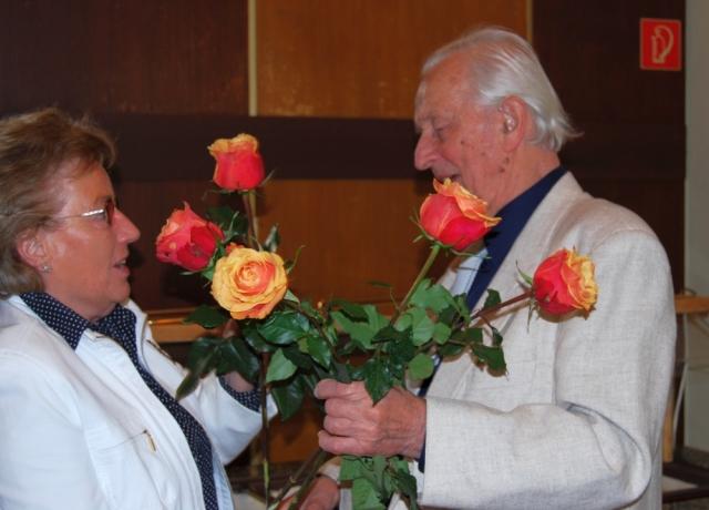 2008: Gratulantin (Foto: Achim Haupt)