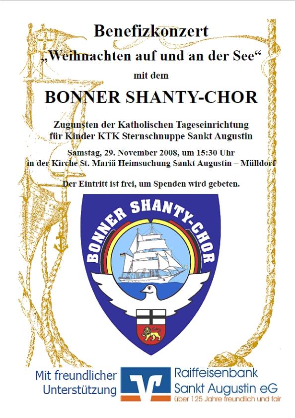 2008: Plakat für den Auftritt in St. Mariä Heimsuchung