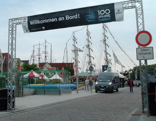"2011: ""Willkommen an Bord!"" (Foto: Peter Reichelt)"