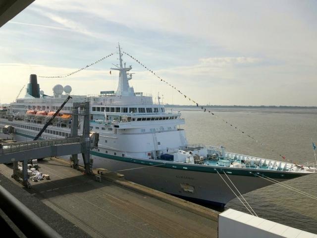 """2018: Kreuzfahrtschiff """"Albatros"""" (Foto: Manfred Weiler)"""