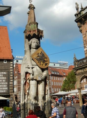 2018: Bremen, Roland am Rathaus (Foto: Wilfried Bennerscheidt)