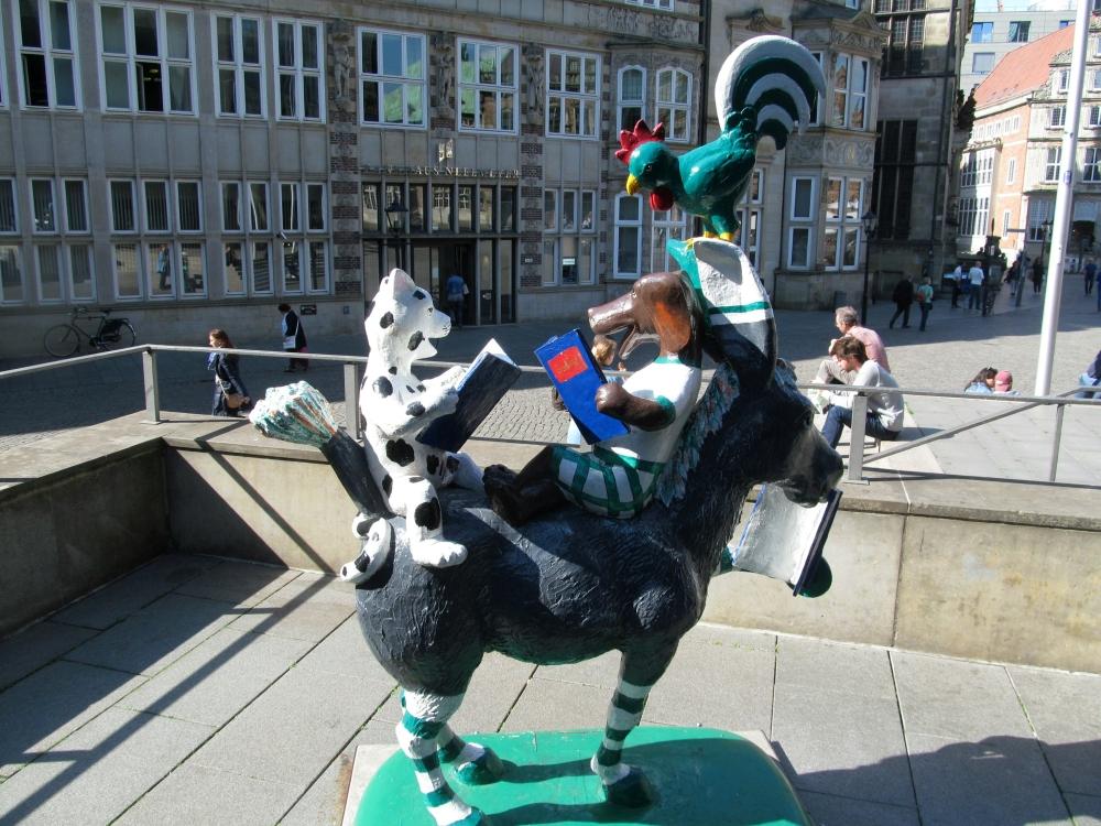 2018: Die Bremer Stadtmusikanten, moderne Form (Foto: Peter Reichelt)