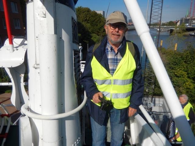 2018: Manfred Weiler auf dem Seenotkreuzer (Foto: Wilfried Bennerscheidt)