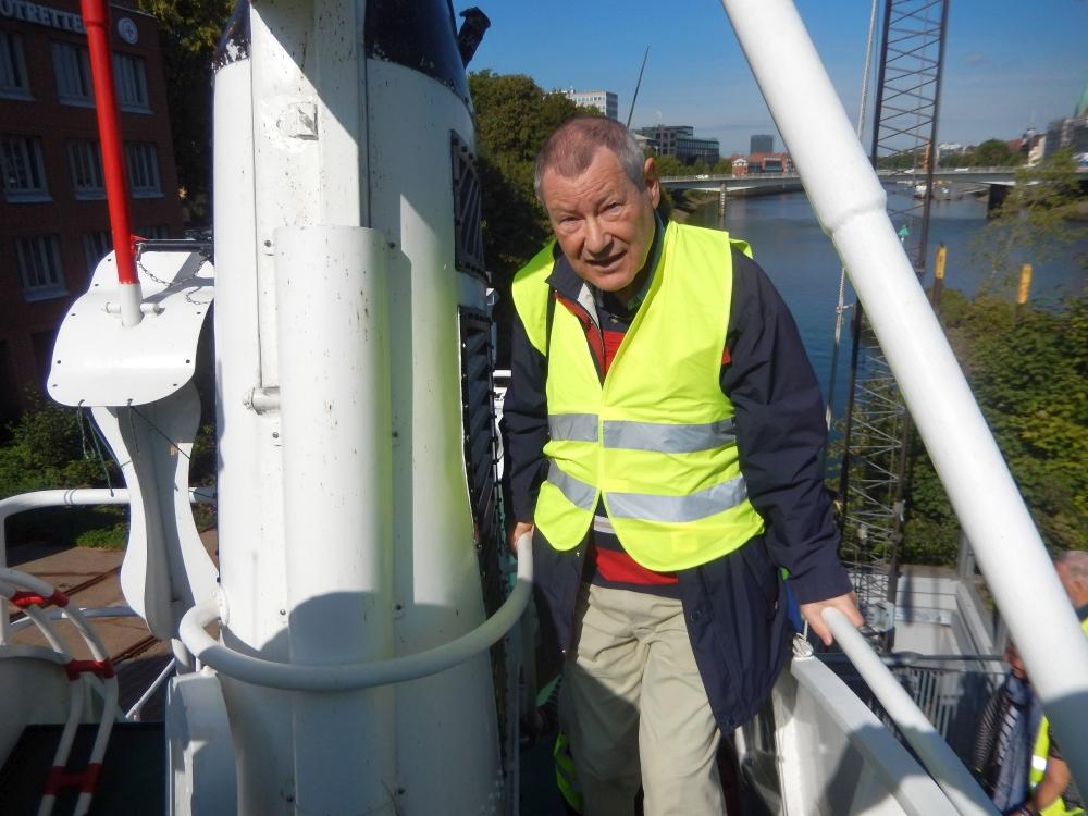 2018: Martin Frey auf dem Seenotkreuzer (Foto: Wilfried Bennerscheidt)