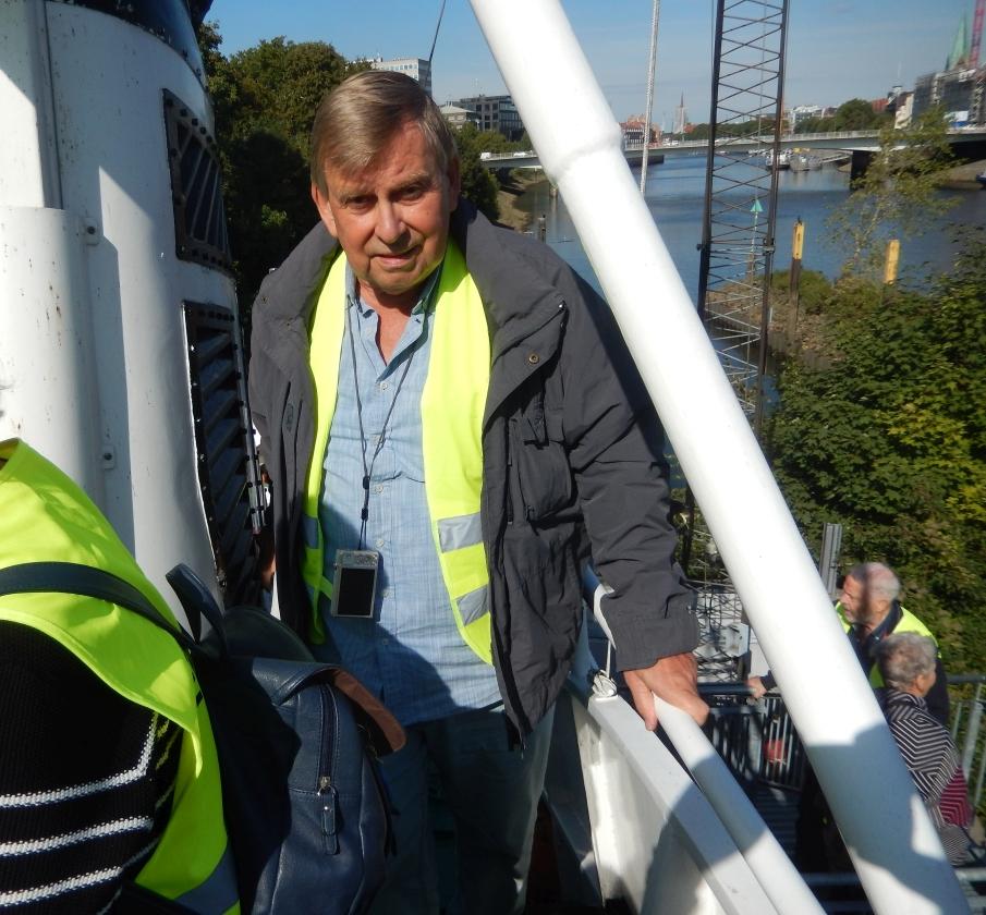 2018: Hein Unsöld auf dem Seenotkreuzer (Foto: Wilfried Bennerscheidt)