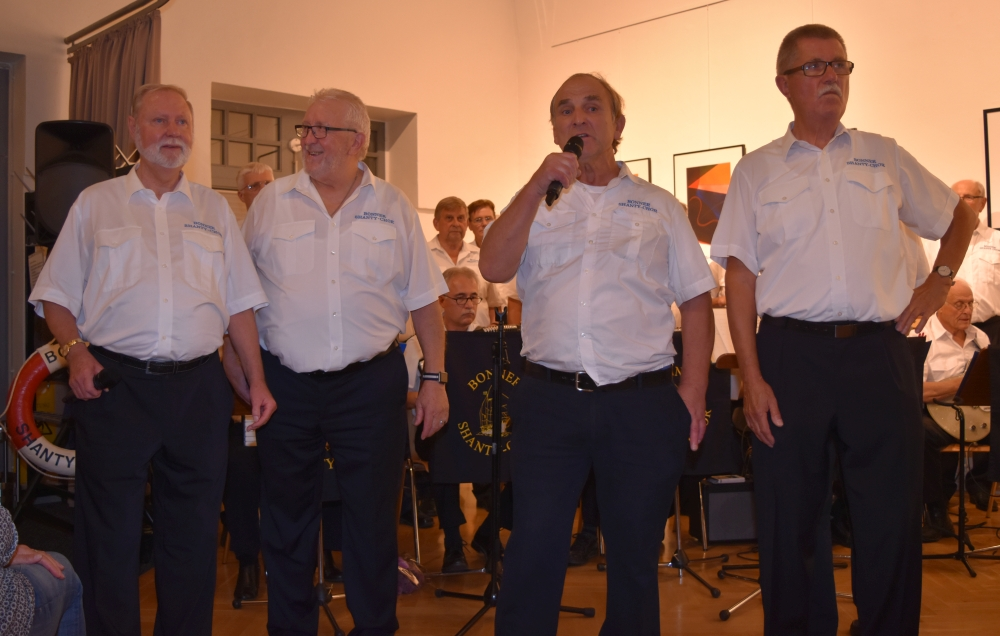"2018: ""Swinging Sailors"" mit den Solisten Hans-Kurt Süßmilch, Heinz Pinkernell, Lothar Patzak, Hans Kamradt (Foto: Horst Krien)"
