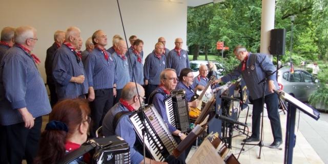 Juni 2016: Bei der Stellprobe (Foto: Manfred Weiler)