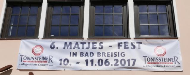 2017: Matjesfest - Banner (Foto: Manfred Weiler)