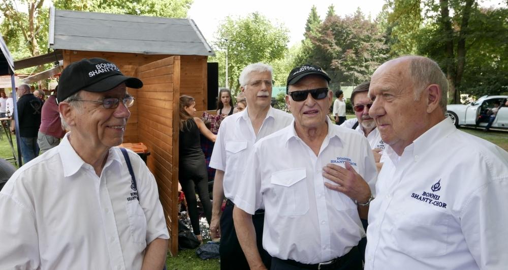2017: Im Vordergrund: Peter Reichelt, Klaus Oetjen, Heinz Schreiber (Combo) (Foto: Manfred Weiler)