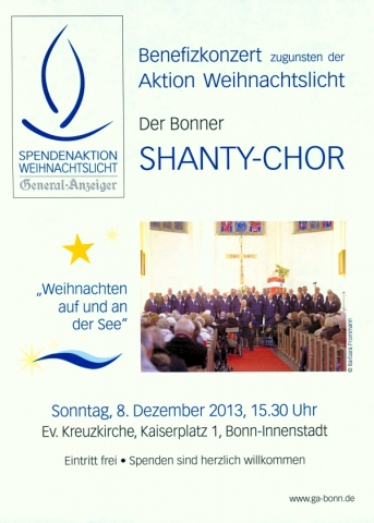 2013: Plakat für Benefizkonzert in der Kreuzkirche