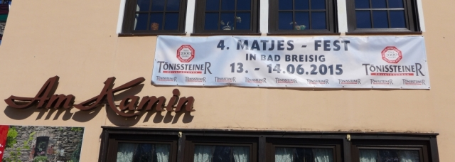 2015: Matjesfest - Banner (Foto: Manfred Weiler)