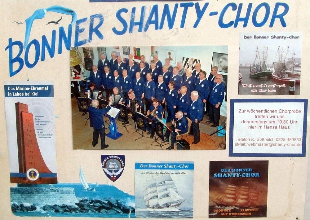 Plakat des BONNER SHANTY-CHORES (2015, Foto: Peter Reichelt)