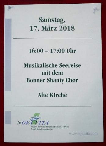 2018: Ankündigung unseres Auftritts (Foto: Manfred Weiler)