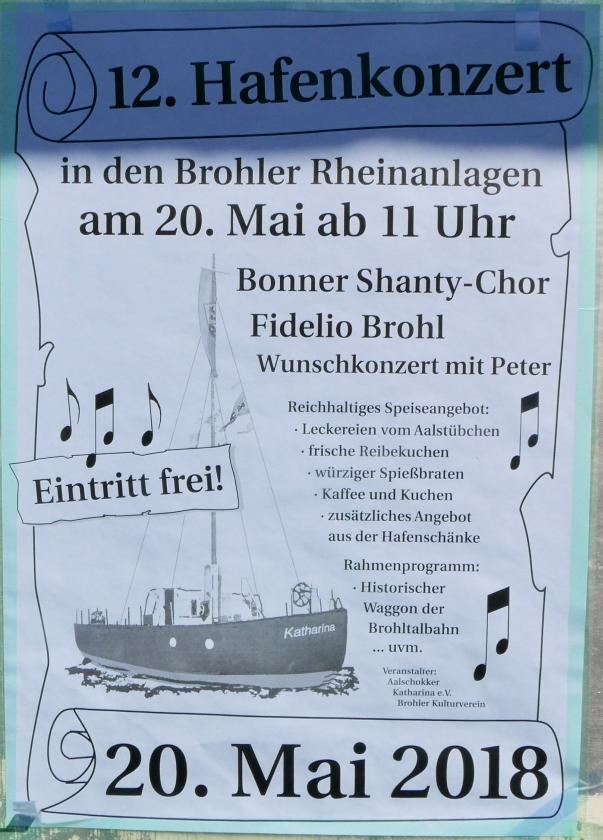 2018: Plakat für das Hafenfest (Foto: Manfred Weiler)