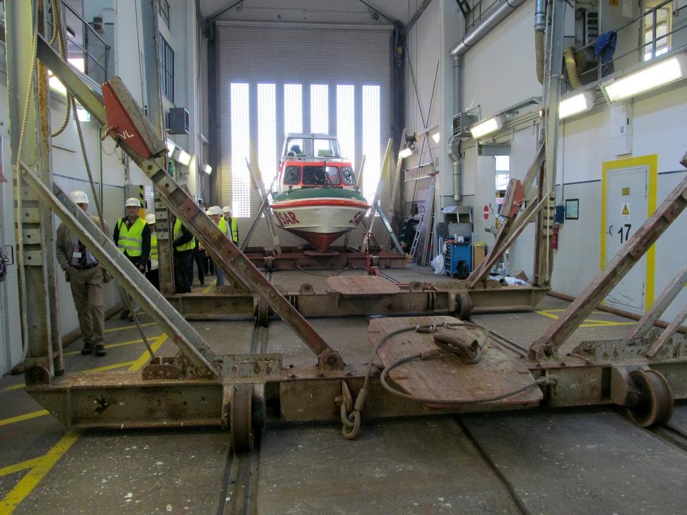 2018: In der Schiffsausbesserungshalle (Foto: Peter Reichelt)
